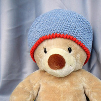 Crochet Kids Hat Denim Blue Cotton Cool Cotton Cloche
