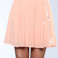 DJPremium.com - Women - Shop by Brand - Lucca Couture - Skirts - Sheer Bird Print Skirt