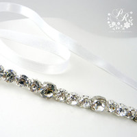 Rhinestone and Crystal Head piece Wedding Jewelry Bridal hair band