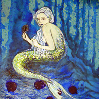 Mermaid - 8x10 print of an original painting by Emily Fields