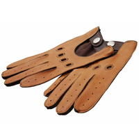 Two-Tone Leather Driving Gloves