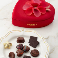 Godiva Valentines Fabric Heart Chocolates