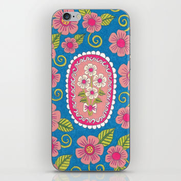Bouquet of Flowers iPhone & iPod Skin by PeriwinklePeacoat