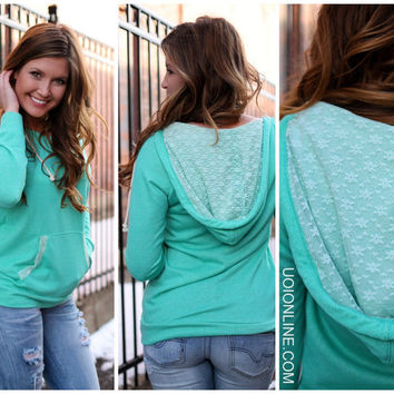 Lacey Days Hoodie - Mint