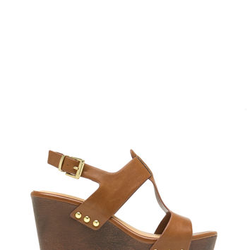 Me Myself And I-Strap Studded Wedges