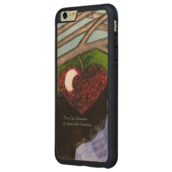Impossible Love Carved® Maple iPhone 6 Plus Bumper
