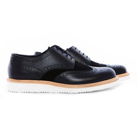 RF104 - Suede and textured leather Brogue - US