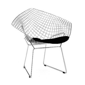 Wire Sting Ray Chair in Black