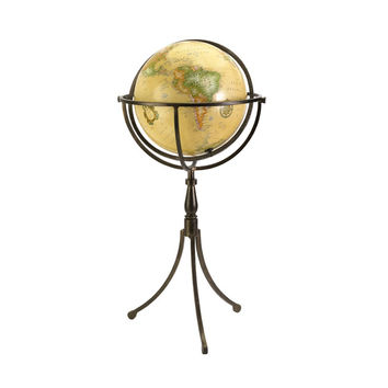 Vintage Inspired Globe on Iron Stand