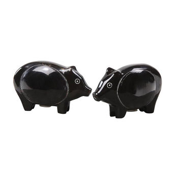 Black Pig Spice Shakers - Set of 2