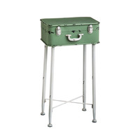 Minty Suitcase Side Table