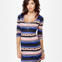 Hurley Casablanca Dress - Long Sleeve Dress - Body-Con Dress - Print Dress - $39.50