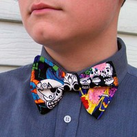 Day of the Dead Bow Tie Dia de los Muertos Sugar Skull Goth Gothic bowtie
