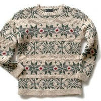 Shop Now! Ugly Sweaters: Thick Chunky Knit Longer Length Ugly Ski or Christmas Sweater Women&#x27;s Size Medium/Large (M/L) $18 - The Ugly Sweater Shop