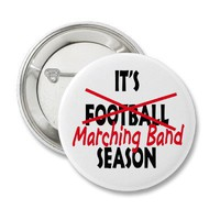 Marching Band Season / Red Pinback Buttons from Zazzle.com