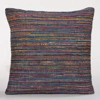 Peacock Recycled Silk Sari Pillow | World Market