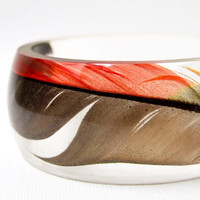 resin bangle made with eco resin containing by RosellaResin