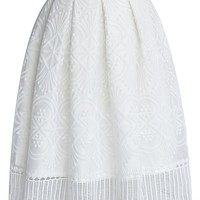 Ethereal Embroidered Pleated Skirt