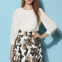 In Love with White Chiffon Top