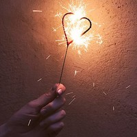 Free People Womens Heart Sparklers - Red One