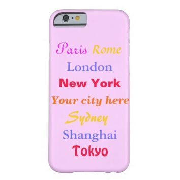Personalized Girly World Travel - iPhone 6 Case