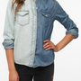 BDG Two-Tone Western Denim Shirt