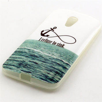 Silicone Paint Case Rubber Phone Back Cover For Motorola Moto G2 2nd Gen 2014