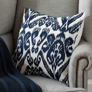 JOSIE IKAT EMBROIDERED PILLOW COVER