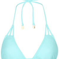 Strappy Triangle Bikini Top - Sky Blue