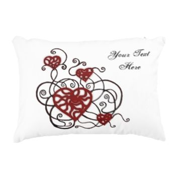 Loopy Love Heart Trellis Accent Pillow