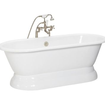 PORCELAIN PEDESTAL BATHTUB