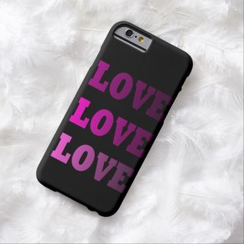 Customizeable Pink LOVE LOVE LOVE Quote