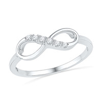 Diamond Accent Infinity Ring in 10K White Gold