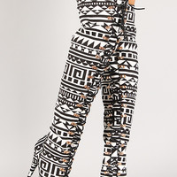 Tribal Lace Up Peep Toe Thigh High Boot