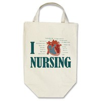 I Heart NURSING Bags from Zazzle.com