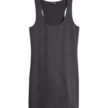 Long Jersey Tank Top - from H&M