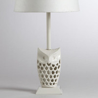 White Owl Accent Lamp Base | World Market