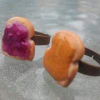 PB &amp; J Best Friend Rings by DirtyWaterDesigns on Etsy