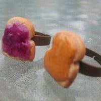 PB & J Best Friend Rings by DirtyWaterDesigns on Etsy