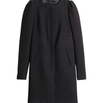 Textured Woven Coat - from H&M