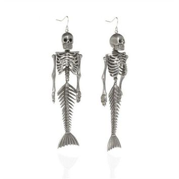 nOir Jewelry - Earrings - Siren Skeleton