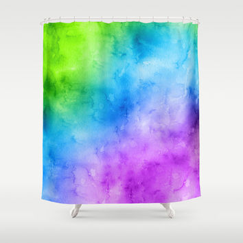Dark Waters (Cool Water Colors) Shower Curtain by Indulge My Heart
