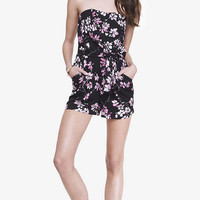TIE FRONT ROMPER - FLORAL from EXPRESS