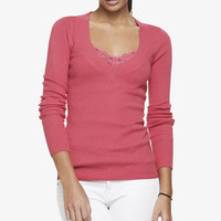 FITTED V-NECK SWEATER from EXPRESS