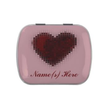 Tiled Mosaic Heart (Deep Red) Jelly Belly Candy Tin