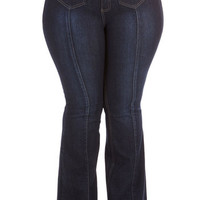 ModCloth Boho Long High Waist, Flare Seams Perfect to Me Jeans in Plus