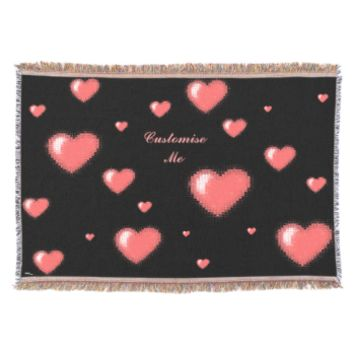 Tiled Mosaic Heart (Pink) Throw
