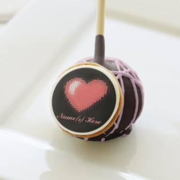 Tiled Mosaic Heart (Pink) Cake Pops