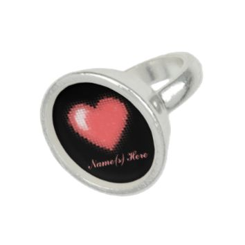 Tiled Mosaic Heart (Pink) Ring
