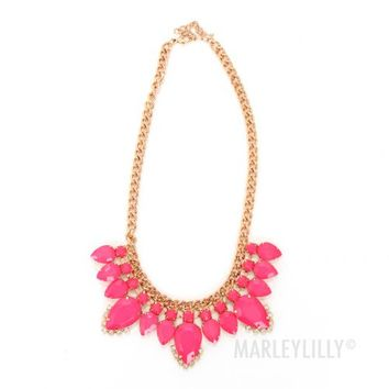 Pink Champagne Statement Necklace | Marleylilly